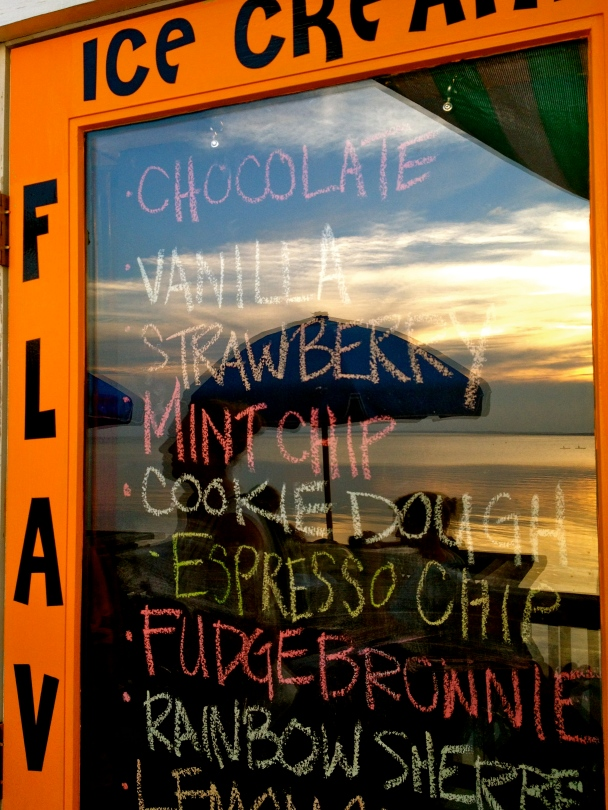 flavor board sunset ice cream duck nc