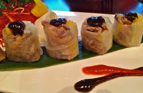 Crispy Duck Roll at Red Ginger