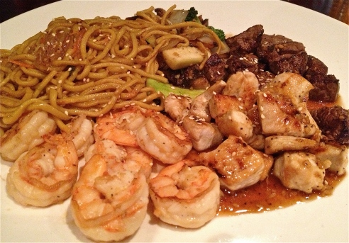 Steak, Chicken and Shrimp Hibachi at Red Ginger